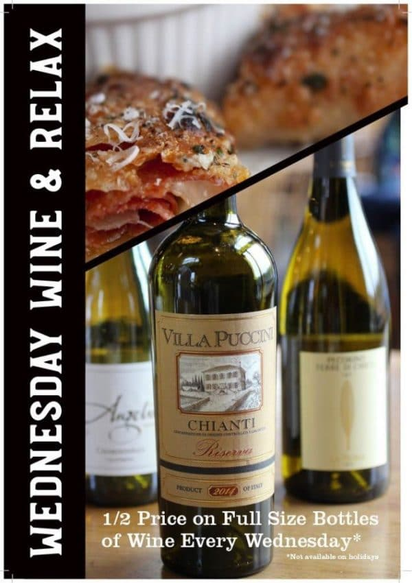 Wine & Relax Special at Fondi Pizzeria at Uptown Gig Harbor