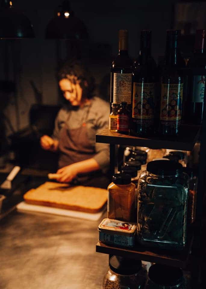 Chef preparing ingredients at Gertie and the Giant Octopus