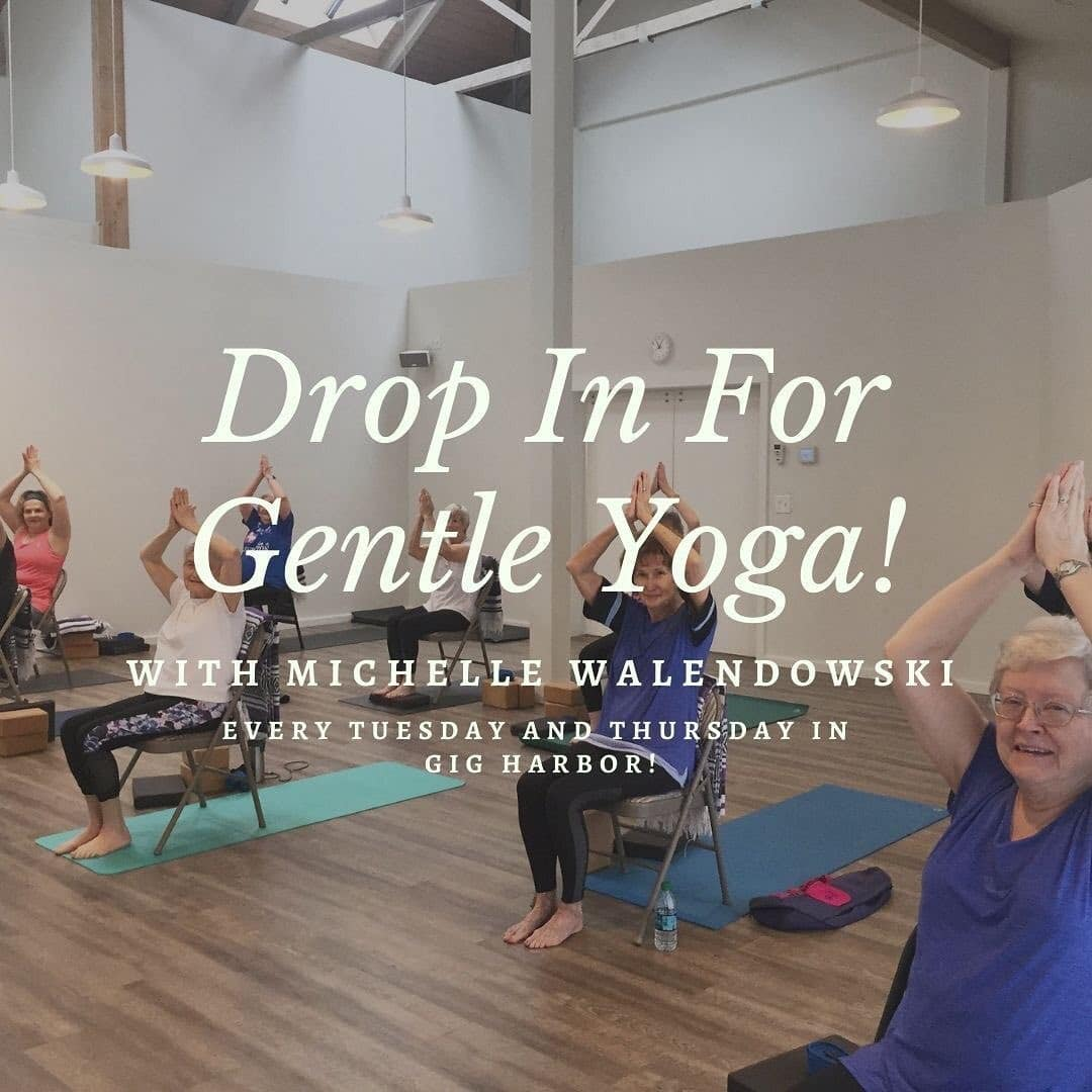 Drop in gentle yoga clients at Tuladhara Yoga