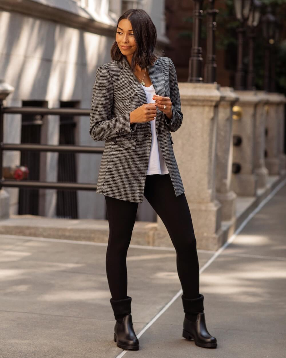 Woman wearing a Loft outfit