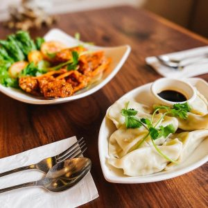 Leles pot stickers at Uptown Gig Harbor