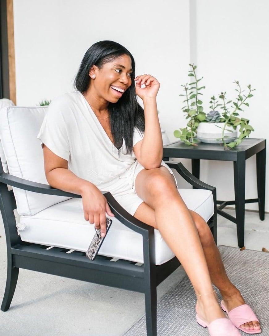 Woman smiling wearing Soma Intimates