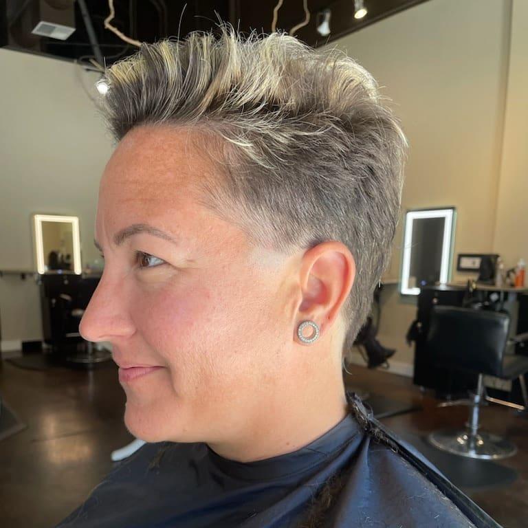Short haircut at Studio Six Salon at Uptown Gig Harbor