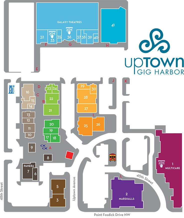 Uptown Gig Harbor map