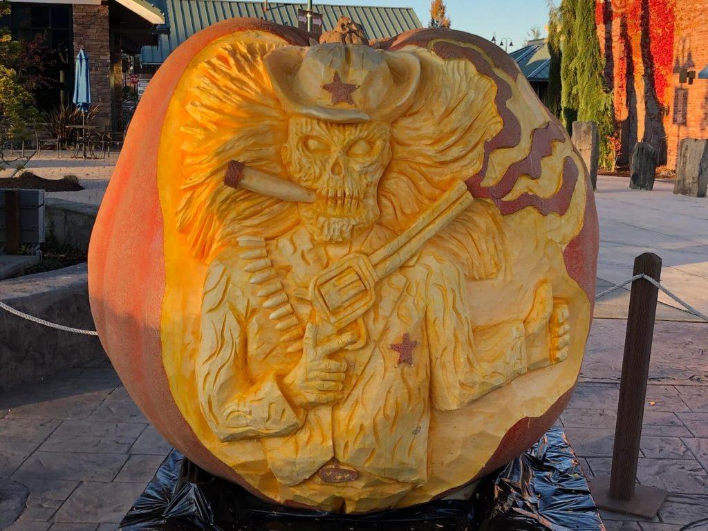 Giant Pumpkin Carving at Uptown Gig Harbor